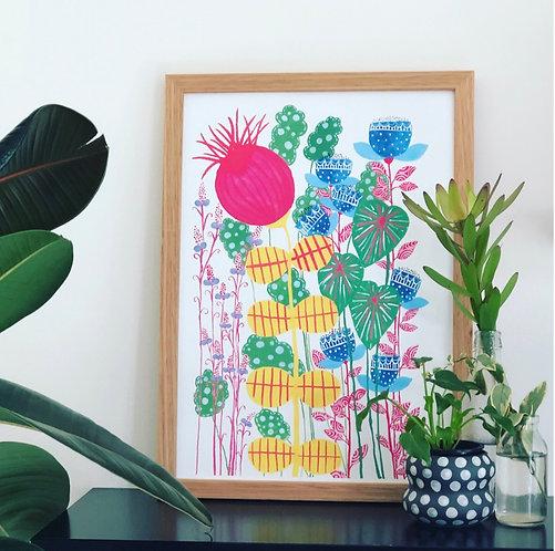 Imagine Giant Flowers PRINT