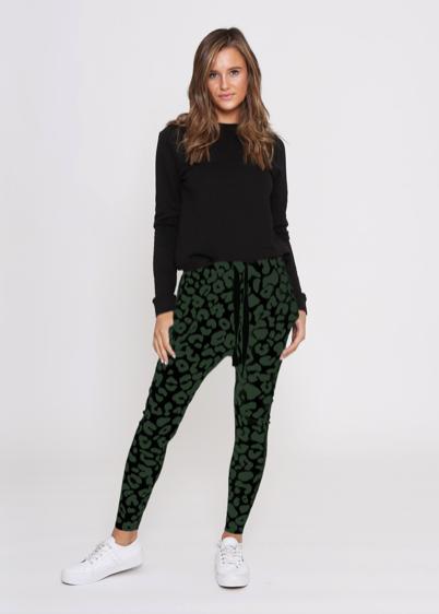 LEONI Jordan Jogger - Leopard Khaki/Black