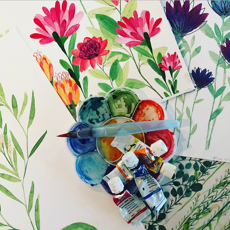 Whimsical Watercolour Flowers Workshop