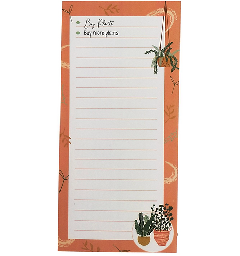 Buy More Plants - Magnetic NOTEPAD