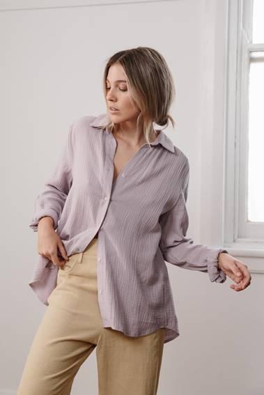 LITTLE LIES - Sofie Shirt - Lilac