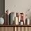 Thumbnail: Ribbed Infinity Vase Ochre (Medium) - Marmoset Found
