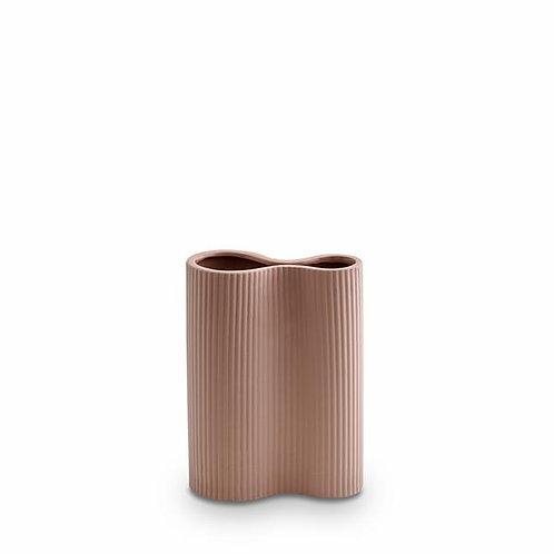 Ribbed Infinity Vase Ochre (Small) - Marmoset Found