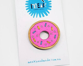 MEAK - Donut Brooch / Badge