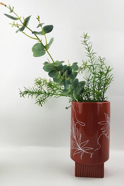 Nova Leaf Vase 22cm (Terracotta)