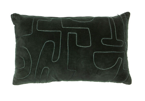 Modernist Rectangular Green Cushion