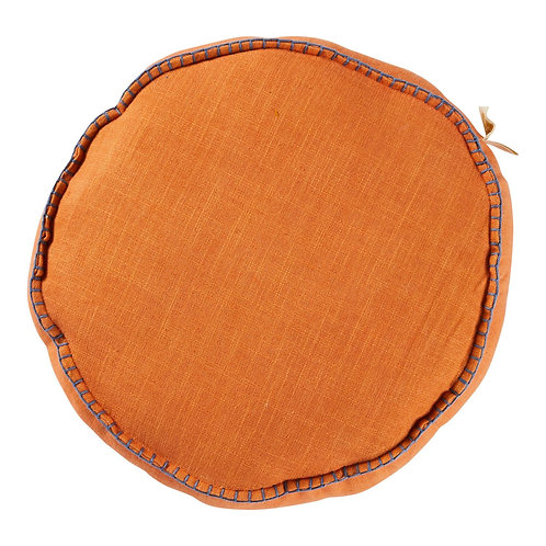 Rylie Round Cushion - MELON - SAGE AND CLARE
