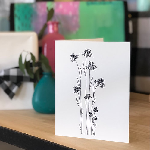 Pretty Wildflower CARD