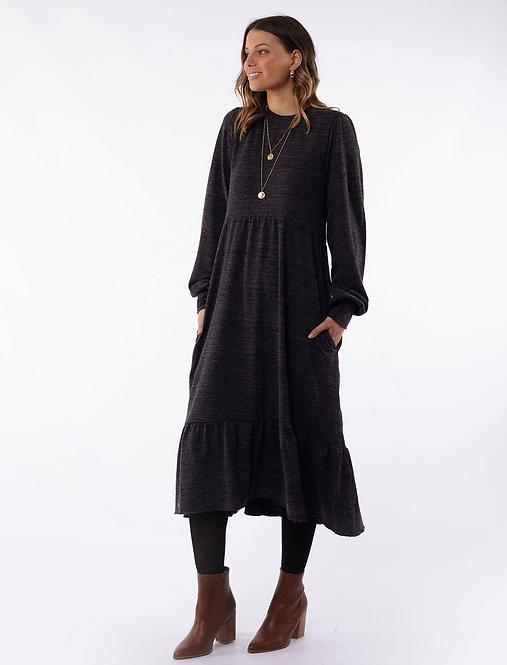 Kensington Dress Charcoal - FOXWOOD