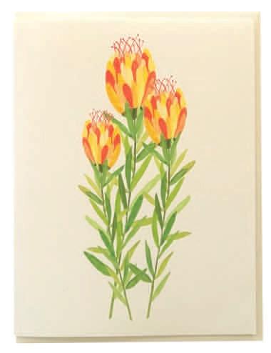 Yellow Trio Bloom CARD