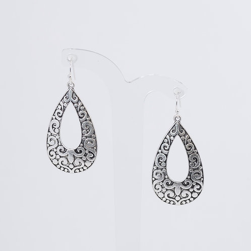 SUPER AMAZING - Antique Silver Paisley Teardrops