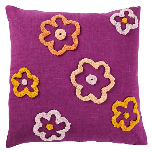 Cybille Flower Cushion - SAGE AND CLARE