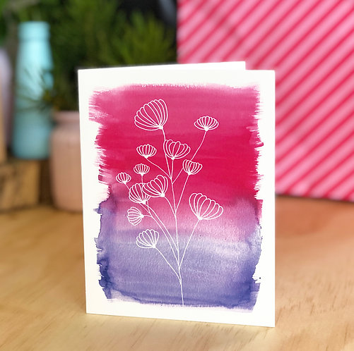 Wildflower Joy Colour CARD