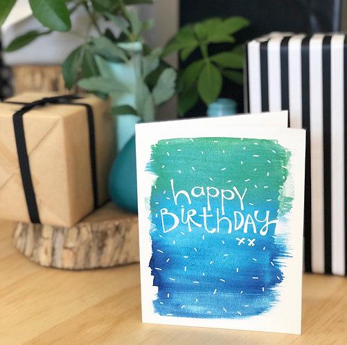 Birthday Colour Sprinkle CARD