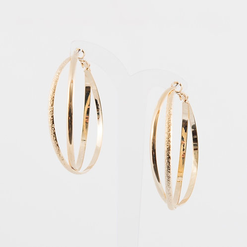 SUPER AMAZING - Double Hoop Earrings in Silver and Gold
