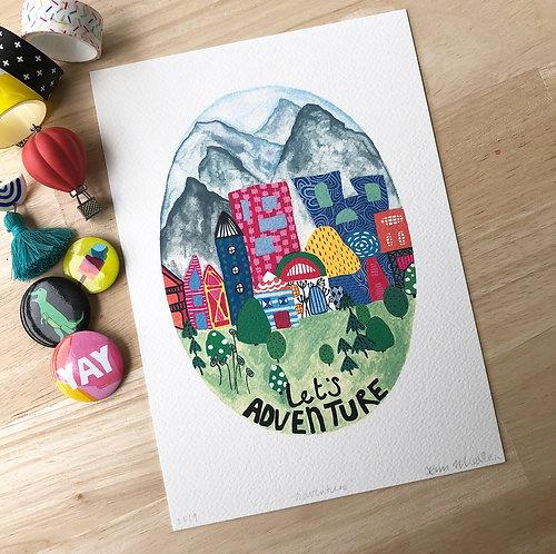 Let's Adventure PRINT