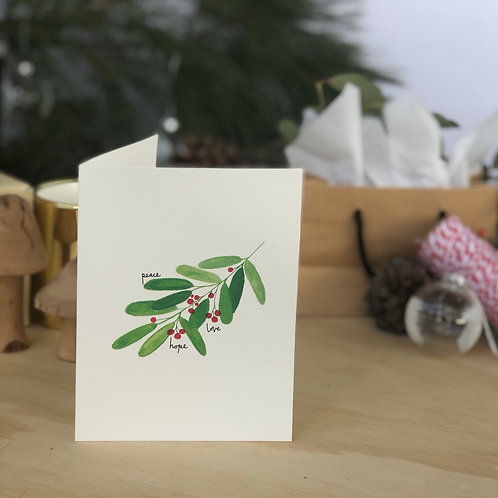 Christmas Berry Branch CARD