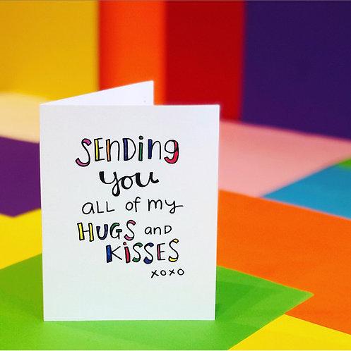 Sending Hugs and Kisses CARD