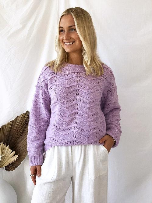 Little Lies - Lilac Wave Knit