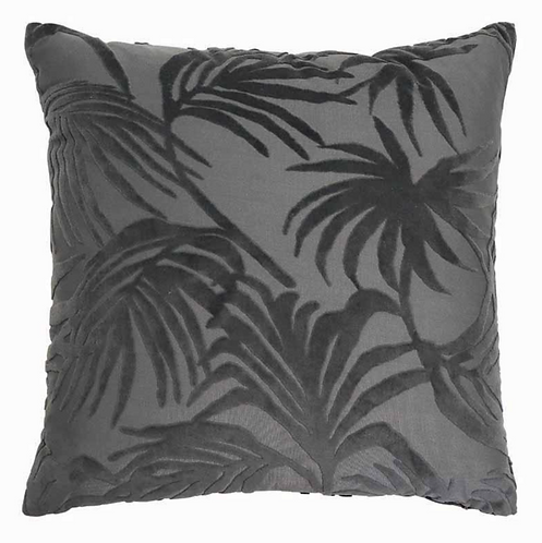 Palm Jacquard Charcoal cushion