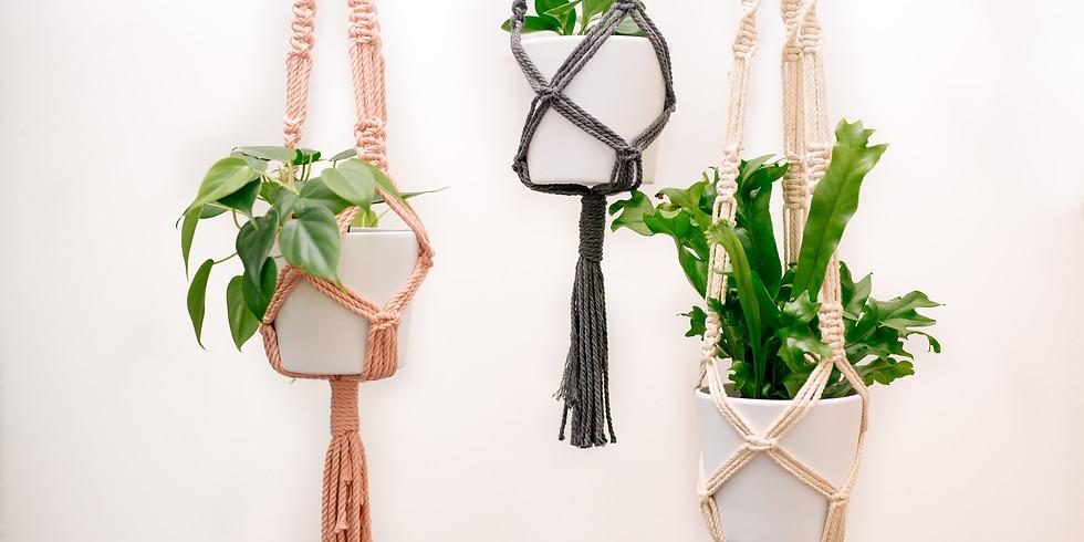 TEEN (12yrs+) Macrame Hanging Pot Holder
