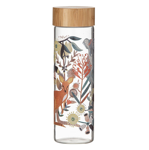 Australian Fauna Glass Water Bottle