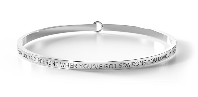 Clasp Bangle - The Sky Looks Different WhenYou've Got Someone ...  - Be. Bangles