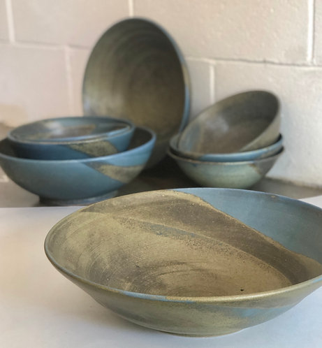 PETER WATSON - Matte Blue Extra large serving bowl