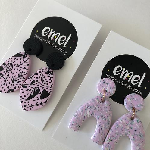 Pink Dangle Earrings - EMEL