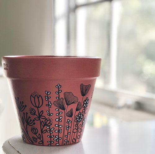 CALLA Blush Hand Painted Pot