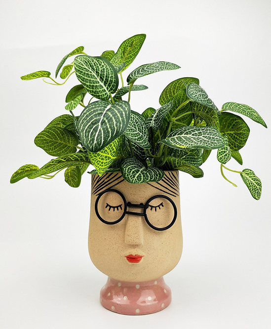 Girl Face Planter Sand