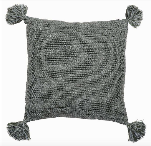Wesley Grey Knitted cushion