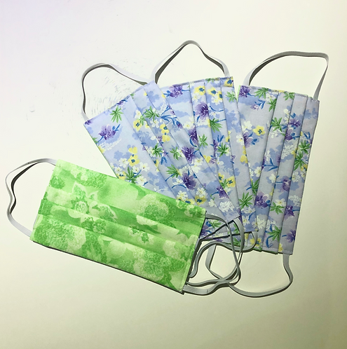 FACE MASK -  Pleated, Washable 3 Layer