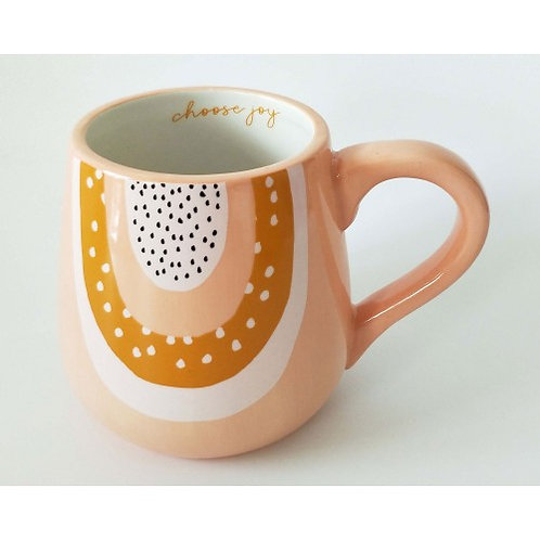 Choose Joy Rainbow mug Pink - URBAN PRODUCTS