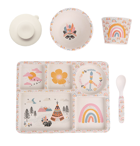 LOVE MAE - Gypsy Girl Divided Plate Set