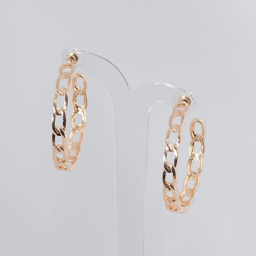 Chain Link Hoop Earrings Super Amazing