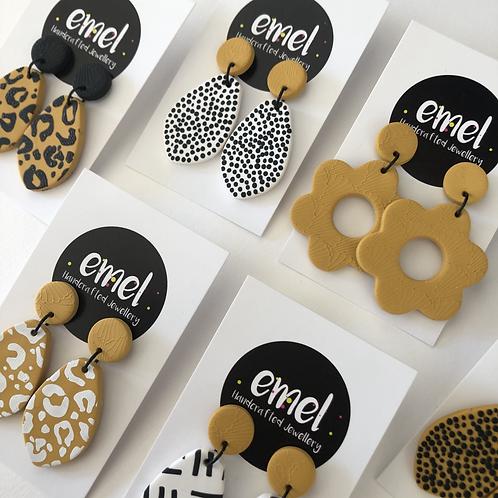 Mustard Yellow Dangle Earrings - EMEL