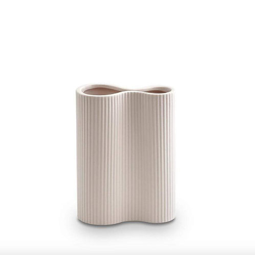 Ribbed Infinity Vase Nude (Small) - Marmoset Found