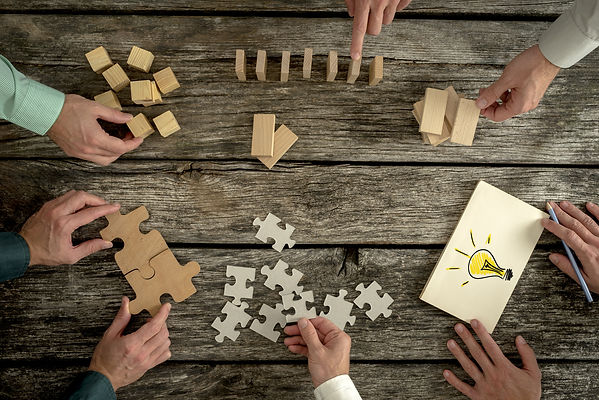 Concept Of Teamwork, Strategy, Vision Or