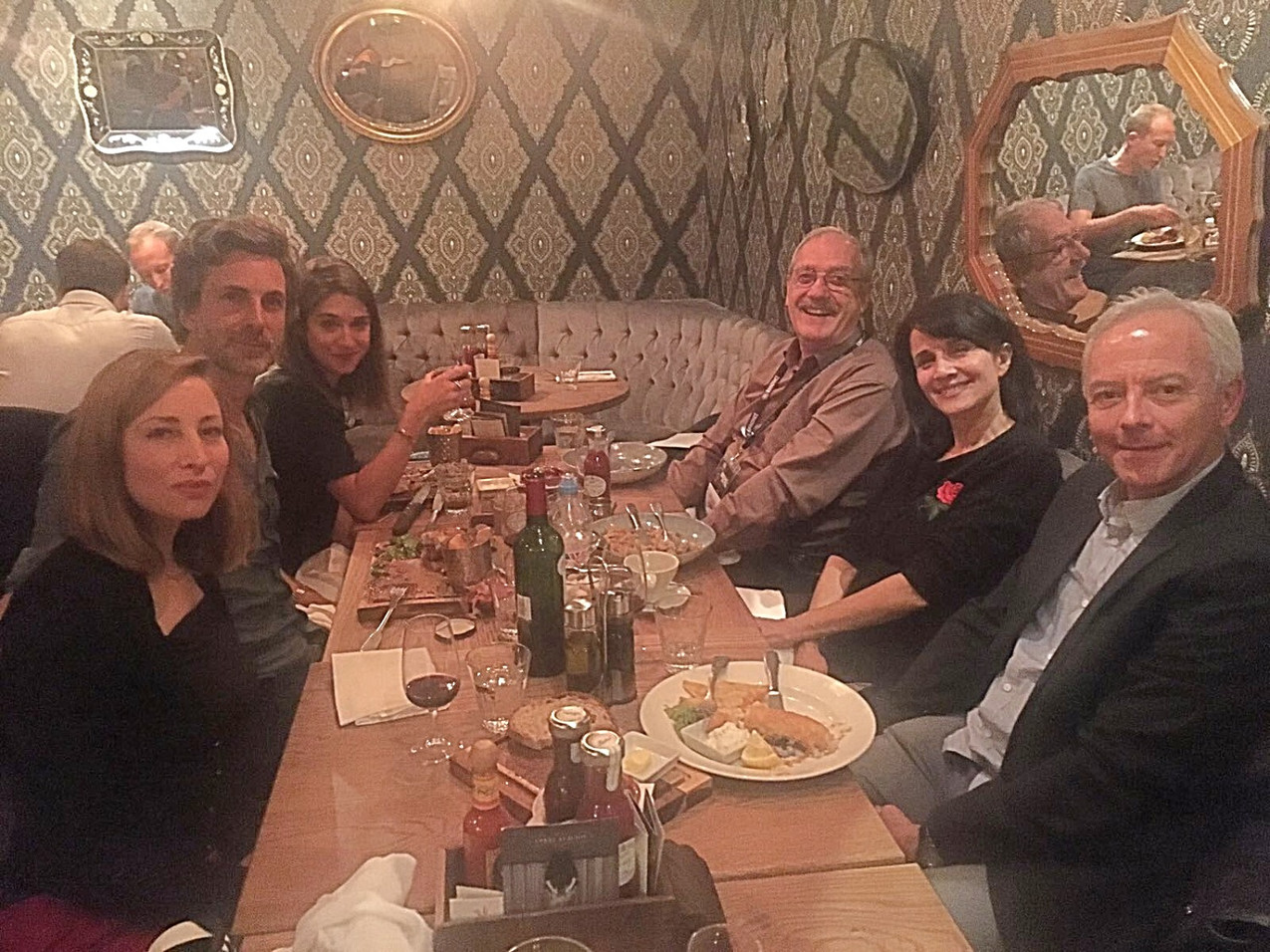 London: diner after première of The Infinite Moment