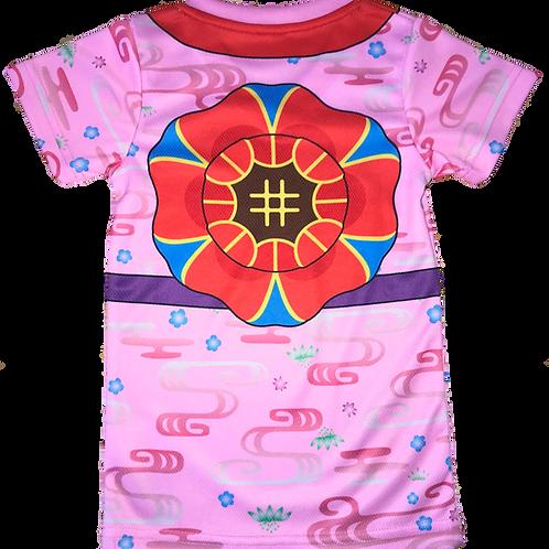 花笠柄  Tシャツ(ピンク)