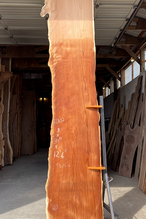 Redwood Live Edge Slab