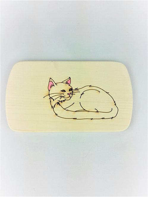 Frühstücksbrettchen Katze - auch graviert