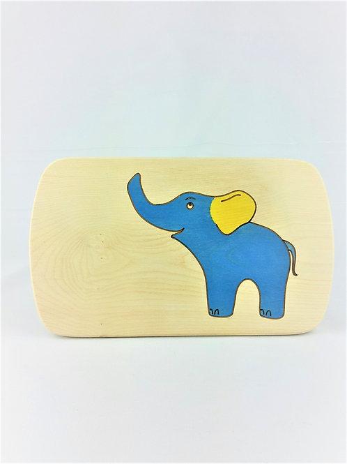 Frühstücksbrettchen Elefant blau - auch graviert