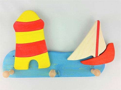Garderobe klein - Leuchtturm Boot Wasser blau