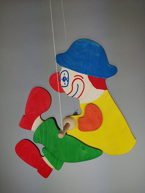 Drehclown groß - blaue Mütze