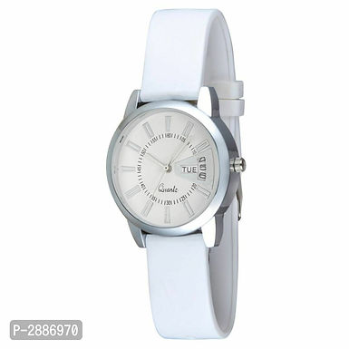 White Stylish Analog Watches for Women's