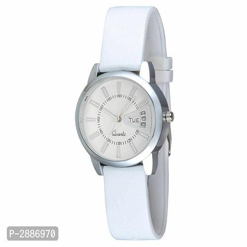 White Stylish Analog Watches for Women's