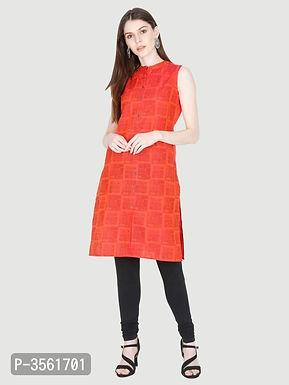 Sleeveless Orange Kurtas