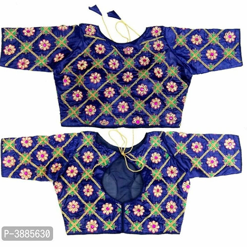 Blue Embroidered Blouses